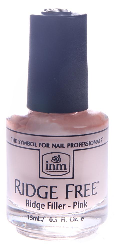 INM Покрытие для разглаживания неровностей Розовый / Ridge Free Pink 15млБазовые покрытия<br>Это насыщенное, кремообразное, богатое протеином средство для ухода за ногтями было разработано для заполнения всех бороздок и впадинок на поверхности ногтя, для получения гладкого и равномерного покрытия ногтя. Способ применение: Основу с розовым пигментом можно применять вместо лака и для фрацузского покрытия.<br><br>Объем: 15