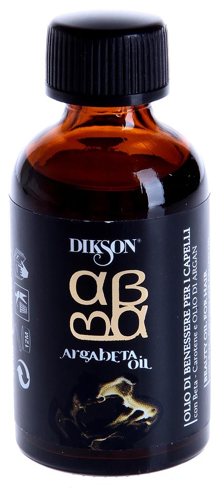 DIKSON Масло для ухода за всеми типами волос / ARGABETA OIL 100млМасла<br>Масло обладает мощным, защитным свойством, способствует восстановлению структуры волоса, снимает статическое электричество, делает волос здоровым и эластичным. Моментально впитывается, не оставляет жирного блеска, обеспечивает глубокое увлажнение и шелковистость, а так же изумительный блеск. Масло Аргании, богатое витамином Е (природным антиоксидантом) защищает волосы от свободных радикалов, в то время когда бета-каротин восполняет энергетические запасы капиллярного волокна противодействует разрушающему воздействию УФ-лучей. Аминокислоты морского происхождения защищают, увлажняют и укрепляют волосы, делая их более объемными и эластичными. Необходимый продукт в любой салонной процедуре и домашнем уходе. Идеально сочетается с красителями для волос, с линиями по уходу за волосами, а так же используется как самостоятельный продукт. Активные ингредиенты: Масло Аргании, бета-каротин. Способ применения: В качестве пред-ухода перед укладкой волос. В смеси с красителем для глубокой защиты волос и большего блеска оттенков во время процедуры окрашивания. Как самостоятельный продукт, укрепляющий корни волос и защищающий кожу головы по периферии во время окрашивания и химической завивки волос.<br><br>Объем: 100<br>Вид средства для волос: Укрепляющая<br>Типы волос: Нормальные