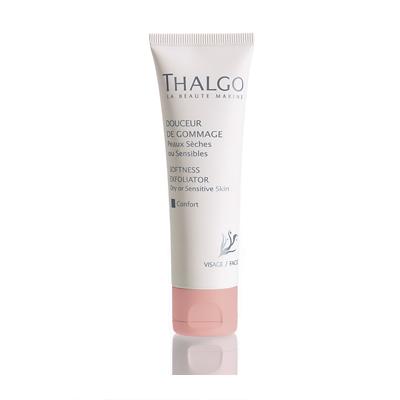 THALGO Скраб смягчающий Комфорт для сухой и чувствительной кожи 50млСкрабы<br>Смягчающий скраб мягко и эффективно очищает и отшелушивает отмершие клетки, не нарушая естественный защитный слой кожи. Не вызывает сухости и раздражения. Активные ингредиенты:&amp;nbsp;Вода, глицерин, жожоба, экстракт финика, экстракт водоросли Gelidium Sesquipedale отдушка. Не содержит парабенов, минеральных масел, пропиленгликоля, ГМО и побочных продуктов животного происхождения.&amp;nbsp; Способ применения:&amp;nbsp;Нанесите скраб на кожу, помассируйте легкими массажными движениями в течение 2-3 минут, избегая области вокруг глаз. Смойте теплой водой. Используйте 1 2 раза в неделю.<br>