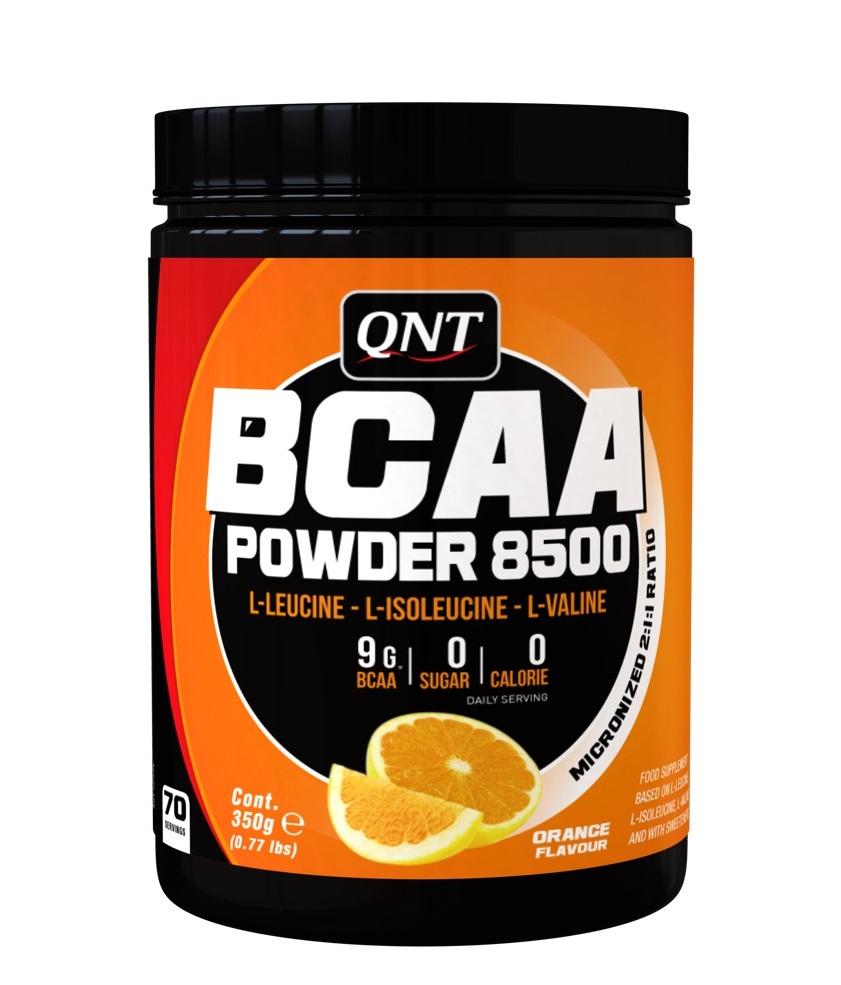 QNT Добавка биологически активная к пище БЦАА паудер 8500, апельсин / BCAA 8500 Powder Orange 350 г