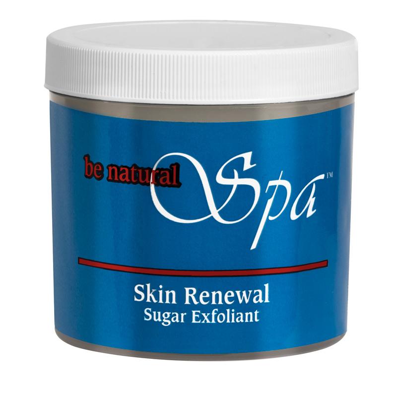 BE NATURAL Крем-скраб на основе тростникового сахара / Skin Renewal Sugar Exfoliant 181грСкрабы<br>Универсальный крем-скраб на основе тростникового сахара и растительных масел. Skin Renewal можно применять как скраб вместе с Intensive Skin Therapy в рамках самостоятельной процедуры по уходу за руками и ногами. Частички тростникового сахара, содержащиеся в крем-скрабе, бережно отвешивают ороговевшие клетки, не травмируя кожу. Skin Renewal можно использовать как завершающий шаг маникюра и педикюра вместо крема. Частички тростникового сахара при нанесении полностью растворяются, так что крем-скраб не требует последующего смывания водой. Входящий в состав питательный комплекс питает и омолаживает кожу. Витамины А, С, Е наполняют кожу энергией и свежестью, а тростниковый сахар способствует регенерации клеток. Активные ингредиенты: тростниковый сахар, экстракты алоэ вера,фикуса, зеленого чая, витамины. Способ применения: используйте скраб 2 раза в неделю. Небольшое количество нанесите на слегка влажную кожу, мягко помассируйте, смойте теплой водой.<br>