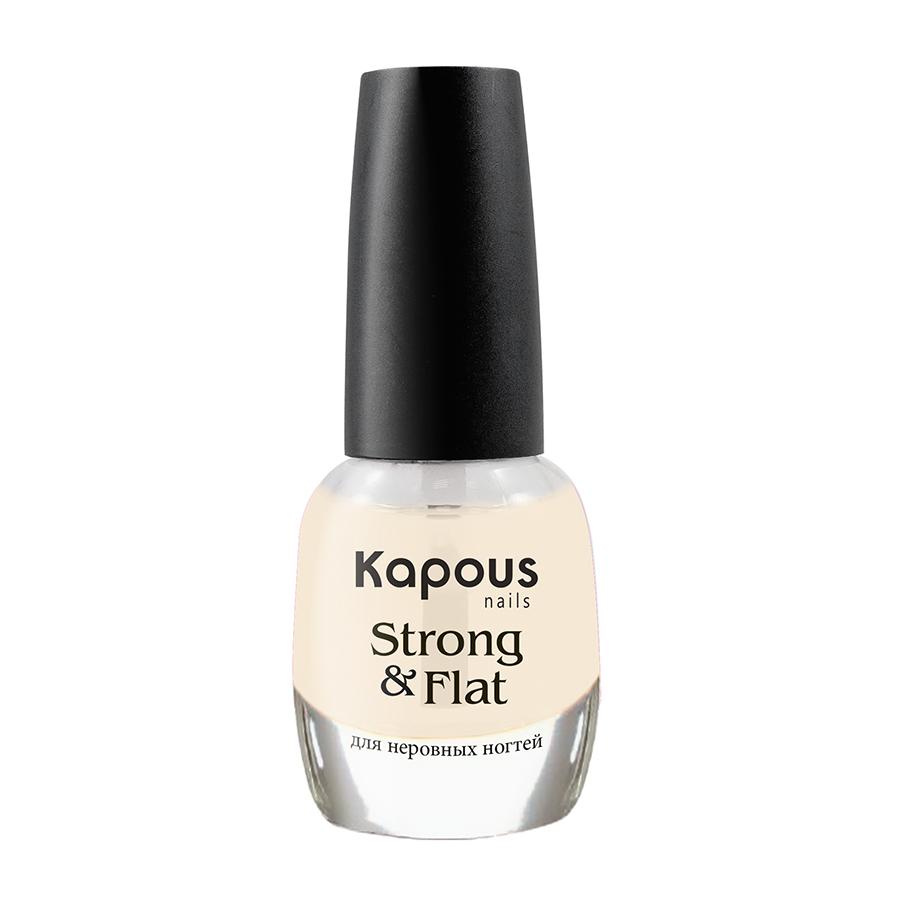 KAPOUS Покрытие базовое укрепляющее для неровных ногтей / Strong  Flat 12 мл