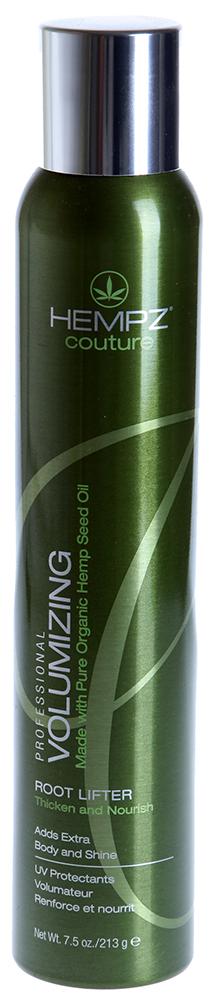 HEMPZ Спрей прикорневой для объема / Volumizing Root Lifter 213грСпреи<br>Прикорневой спрей на основе экстракта семян конопли для укрепления корней волос и создания дополнительного объёма. Невероятно увеличивает объем и делает волосы толще. Экстракт семян конопли и специальные полимеры обеспечивают объем и утолщают волосы. Кокосовое масло придает блеск, сохраняет влагу в волосах, не утяжеляя прическу и не склеивая волосы. Не образует пленку на поверхности кожи головы. UV защита препятствует выгоранию цвета окрашенных и натуральных волос. Защищает волосы от повреждений при использовании фена или щипцов. Аромат: свежий цветочный.  Активные ингредиенты: Экстракт семян конопли, экстракт кокоса, диметикон. Способ применения: Хорошо встряхнуть перед использованием. Распылить на чистые, слегка подсушенные полотенцем корни волос и сделать укладку при помощи фена. Для дополнительного объема и формы, нанести на сухие волосы и проработать феном. Для получения наилучшего результата используйте в комплексе c продуктами Линии по уходу за волосами HEMPZ, смешивайте и комбинируйте с любым продуктом из Линии стайлинга HEMPZ.<br><br>Объем: 250<br>Вид средства для волос: Кокосовая