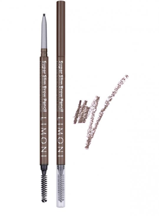 Купить LIMONI Карандаш для бровей № 02 / Super Slim Brow Pencil