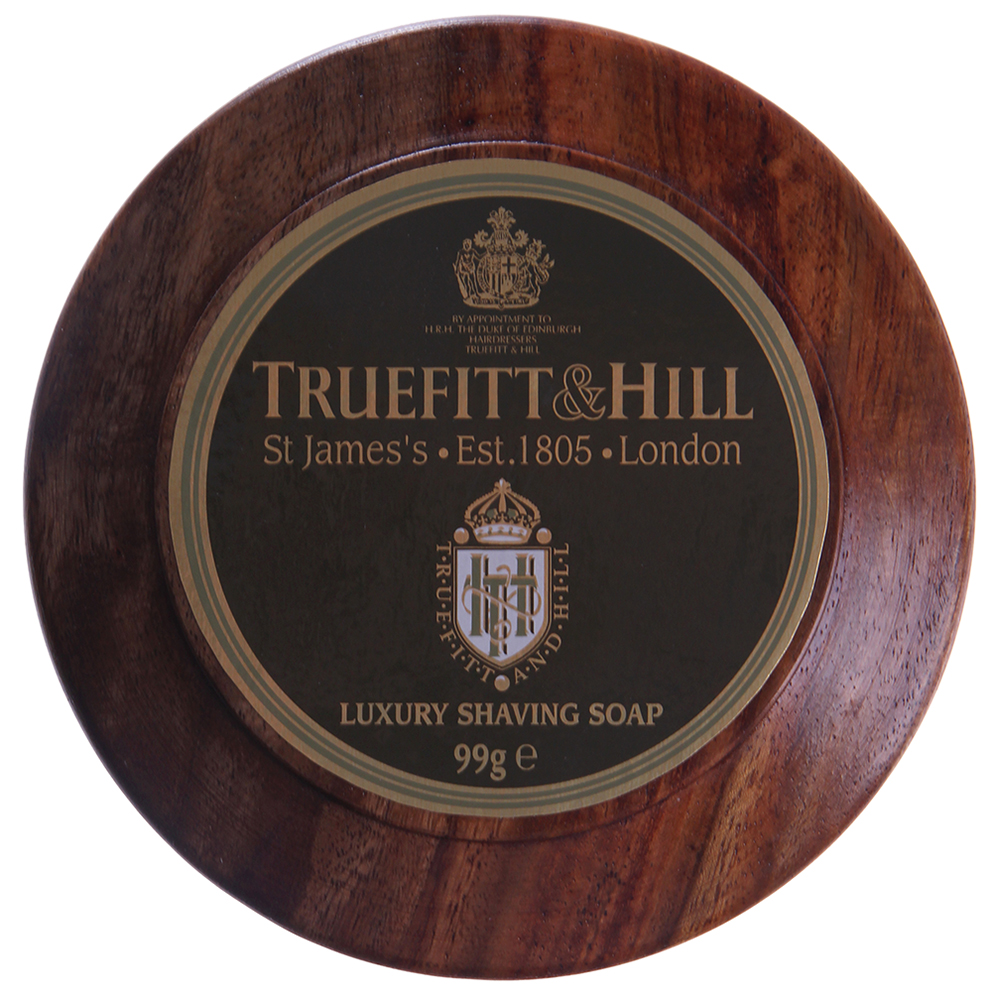 TRUEFITT HILL ����-���� ��� ������ (� ���������� ����) / Luxury Shaving Soap in wooden bowl 99��
