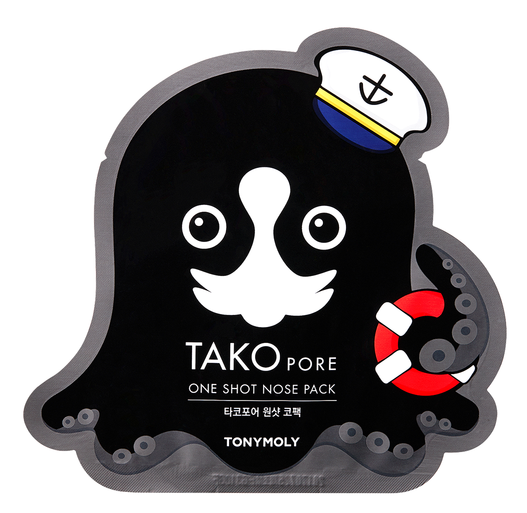 TONY MOLY Патч для носа / TAKOPORE ONE SHOT NOSE PACK 1 шт