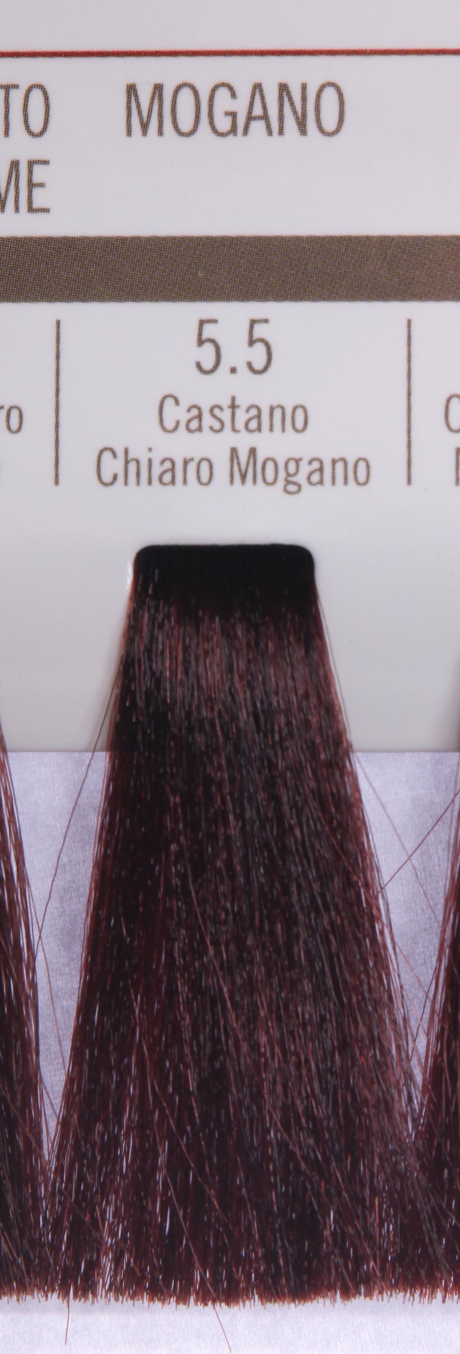 BAREX 5.5 краска для волос / PERMESSE 100млКраски<br>Оттенок: Светлый каштан махагоновый. Профессиональная крем-краска Permesse отличается низким содержанием аммиака - от 1 до 1,5%. Обеспечивает блестящий и натуральный косметический цвет, 100% покрытие седых волос, идеальное осветление, стойкость и насыщенность цвета до следующего окрашивания. Комплекс сертифицированных органических пептидов M4, входящих в состав, действует с момента нанесения, увлажняя волосы, придавая им прочность и защиту. Пептиды избирательно оседают в самых поврежденных участках волоса, восстанавливая и защищая их. Масло карите оказывает смягчающее и успокаивающее действие. Комплекс пептидов и масло карите стимулируют проникновение пигментов вглубь структуры волоса, придавая им здоровый вид, блеск и долговечность косметическому цвету. Активные ингредиенты:&amp;nbsp;Сертифицированные органические пептиды М4 - пептиды овса, бразильского ореха, сои и пшеницы, объединенные в полифункциональный комплекс, придающий прочность окрашенным волосам, увлажняющий и защищающий их. Сертифицированное органическое масло карите (масло ши) - богато жирными кислотами, экстрагируется из ореха африканского дерева карите. Оказывает смягчающий и целебный эффект на кожу и волосы, широко применяется в косметической индустрии. Масло карите защищает волосы от неблагоприятного воздействия внешней среды, интенсивно увлажняет кожу и волосы, т.к. обладает высокой степенью абсорбции, не забивает поры. Способ применения:&amp;nbsp;Крем-краска готовится в смеси с Молочком-оксигентом Permesse 10/20/30/40 объемов в соотношении 1:1 (например, 50 мл крем-краски + 50 мл молочка-оксигента). Молочко-оксигент работает в сочетании с крем-краской и гарантирует идеальное проявление краски. Тюбик крем-краски Permesse содержит 100 мл продукта, количество, достаточное для 2 полных нанесений. Всегда надевайте подходящие специальные перчатки перед подготовкой и нанесением краски. Подготавливайте смесь крем-краски и молочка-оксигента Permesse в н