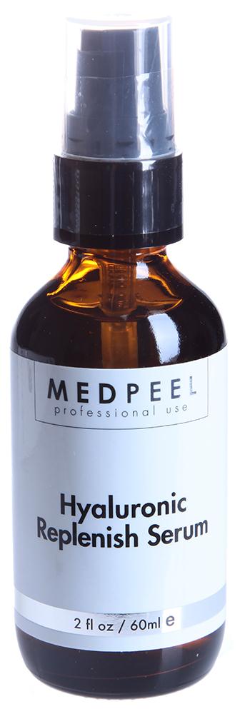 MEDPEEL Сыворотка гиалуроновая / Hyaluronic Replenish Serum 60млСыворотки<br>Гиалуроновая кислота - основной компонент кожи и важная составляющая постоянного ухода за кожей. Обезжирена, на водной основе - не комедоногенна. Рекомендована к применению в период предпилинговой подготовки и в период реабилитации в постпилинговый период и непосредственно после процедуры пилинга.&amp;nbsp; Тип кожи: Все типы кожи. Любой возраст.&amp;nbsp; Достигаемый эффект: Увеличение гидратации, регенерация и повышение эластичности кожи. Гиалуроновая кислота - основной компонент кожи и важная составляющая постоянного ухода за кожей. &amp;nbsp; Активные ингредиенты: деионизированная вода, гиалуроновая кислота, феноксиэтанол, каприлил гликоль, сорбат калия, эксилен гликоль.&amp;nbsp; Способ применения: Небольшое количество сыворотки нанести на область лица, шеи и декольте по массажным линиям до полного впитывания, затем использовать крем SPF 30 или скваленовое масло.<br><br>Объем: 60