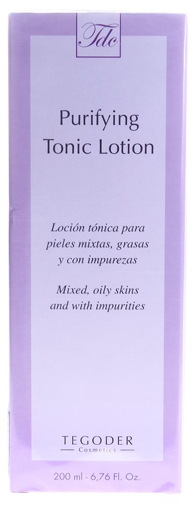 TEGOR Тоник очищающий для жирной кожи / Purifying Tonic Lotion COMPLEMENTARY 200млТоники<br>Специально для деликатного очищения жирной, комбинированной и поврежденной кожи в лабораториях испанской компании Tegor был разработан высокоэффективный очищающий лосьон  Purifying Tonic Lotion . Созданный на основе целого комплекса натуральных растительных экстрактов, лосьон Тегор устраняет разного рода раздражения, покраснения и шелушение, а также заметно снижает гипертрофированную лабильность кожи к агрессивным внешним воздействиям. Благодаря регулярному использованию лосьона Tegor ваша кожа станет безупречно чистой, свежей, мягкой, молодой и красивой. Активный состав: Экстракт корицы, экстракт лопуха, экстракт фенхеля, экстракт лимона, морские водоросли, розовая вода, мед, пивные дрожжи. Способ применения: Нанесите необходимое количество лосьона Тегор на ватный диск и аккуратно протрите им кожу лица.<br><br>Объем: 200<br>Вид средства для лица: Очищающий<br>Возраст применения: После 25