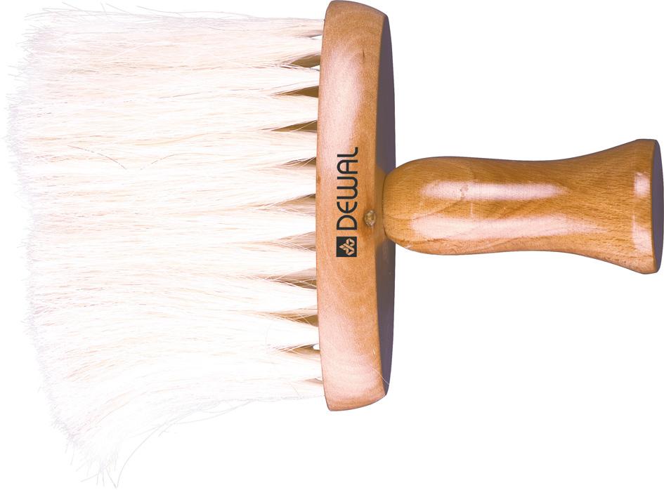 DEWAL PROFESSIONAL Кисть-сметка плоская, ручка дерево, натуральная конская щетина  - Купить