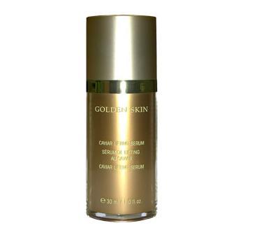 ETRE BELLE Лифтинг-сыворотка Золото + Икра / Golden Skin 30млСыворотки<br>Лифтинговая сыворотка с мгновенным действием, питает, увлажняет и разглаживает кожу. Насколько эффективен данный продукт, вы убедитесь сразу после первого применения. Содержит натуральную аминокислоту Аргинин которая, выполняет роль строительного материала для всех протеинов. Матриксил, пептид восстанавливающий кожную матрицу, стимулирует фибробласты кожи на восстановление внеклеточной матрицы, наряду с синтезом коллагена. Концентрация и глубина морщин значительно снижается, кожа вновь приобретает гладкость и эластичность. Для всех типов кожи требующей регенерации, с тенденцией к атрофии. Активные ингредиенты: аргинин, матриксил, Икра осетровых рыб, 24-каратное золото, экстракт дрожжей, аллантоин, гликопротеины, гамамелис.Способ применения: наносить 1   2 раза в неделю, кожу лица предварительно хорошо очистить. Для уже зрелой кожи сыворотку необходимо использовать каждое утро.<br><br>Вид средства для лица: Восстанавливающий<br>Назначение: Морщины