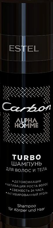 Купить ESTEL PROFESSIONAL Шампунь для волос и тела, для мужчин / TURBO Carbon 250 мл