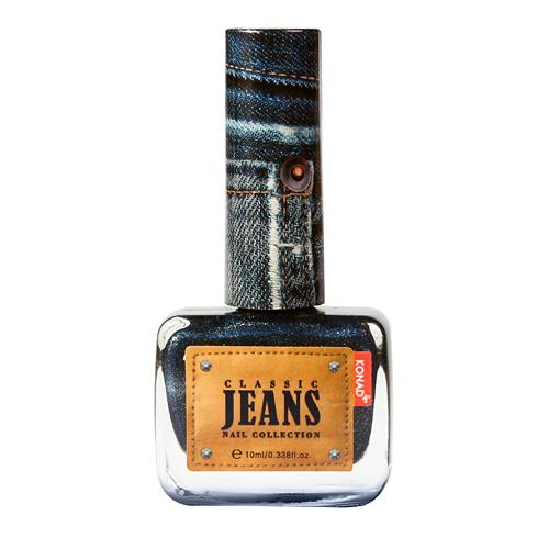 KONAD Лак для ногтей текстурный Nail 03 - Mid Night Blue Jeans / Classic Jeans 10мл konad лак для ногтей матовый nail 06 peach macaroon soft touch 10мл