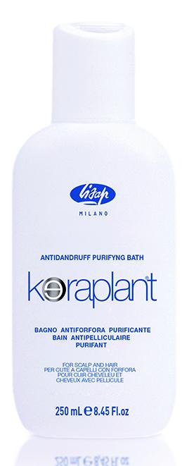 LISAP MILANO Шампунь очищающий против перхоти для волос / KERAPLANT 250млШампуни<br>Специальный очищающий шампунь для волос против перхоти  Keraplant Purifying Antidandruff Bath  со смягчающим и антимикробным действием. Активные ингредиенты (пироктон оламин, альфа-бисаболол, адиантум венерин волос) способствуют отшелушиванию, препятствуя новому появлению перхоти. Уже после первого применения снимает зуд и воспаление кожи головы. Активные ингредиенты: пироктон оламин, альфа-бисаболол, адиантум венерин волос. Способ применения: нанести шампунь на влажные волосы и мягко промассировать, затем ополоснуть водой. Повторить нанесение и оставить шампунь на волосах на 2 минуты перед окончательным ополаскиванием. Рекомендуется использовать в комплексе с Keraplant Purifying Antidandruff Lotion.<br><br>Вид средства для волос: Очищающий<br>Назначение: Перхоть