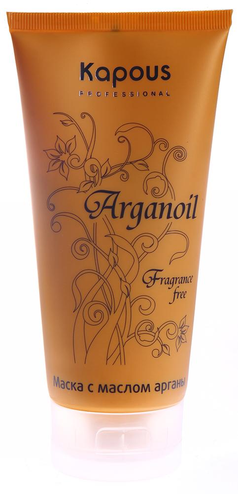 KAPOUS Маска с маслом арганы / Arganoil 150млМаски<br>Маска интенсивного действия на основе масла Арганы предназначена для глубокого увлажнения и восстановления любого типа волос, в том числе вьющихся, поврежденных или пересушенных на солнце. В состав масла Арганы входят полиненасыщенные жирные кислоты, которые способствуют: продолжительному увлажняющему эффекту, укреплению, объему и эластичности волос. Природные антиоксиданты (полифенолы и токоферолы) защищают волосы от воздействия свободных радикалов, витамины А и Е реконструируют внутреннюю структуру и стимулируют усиленную регенерацию клеток, максимально увлажняют волосы, возвращают им эластичность и блеск. Благодаря мгновенному проникновению маски в глубь волоса, поврежденные волокна восстанавливаются и волосы становятся эластичными. Маска с маслом Арганы - это мощный уход, интенсивное увлажнение волос, в результате волосы защищены от потери влаги, чрезмерной сухости, а также становятся блестящими, эластичными и естественно мягкими. Не имеет парфюмированных добавок Способ применения: после мытья головы увлажняющим шампунем с маслом Арганы, волосы отжимаем от излишков влаги и наносим маску, равномерно распределяем по волосам мягкими массирующими движениями, оставляем на 10-15 минут, затем тщательно ополаскиваем большим количеством воды.<br><br>Вид средства для волос: Увлажняющий