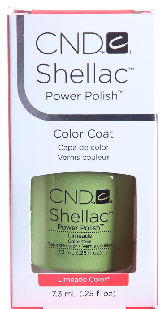 CND 058 покрытие гелевое Limeade / SHELLAC 7,3млГель-лаки<br>Цвет: Limeade   Shellac &amp;ndash; первый гибрид лака и геля, сочетающий в себе самые лучшие свойства профессиональных лаков для ногтей (простота наложения, яркий блеск, богатство цвета) и современных моделирующих гелей (отсутствие запаха, носибельность, нестираемость).   Носится как гель, выглядит как лак, снимается за считанные минуты, укрепляет и защищает ногти, гипоаллергенный, создан по формуле 3 FREE, не содержит дибутилфталата, толуола, формальдегида и его смол   все это Shellac!   Преимущества: 14 дней   время носки маникюра 2 минуты   время высыхания покрытия Зеркальный блеск и идеальная гладкость маникюра Не скалывается, не смазывается, не трескается Каждое покрытие представлено в непрозрачном флаконе, цвет которого абсолютно идентичен оттенку самого продукта. Флакон не скользит в руке, что делает процедуру невероятно легкой и приятной, а удобная кисточка позволяет нанести средство идеально ровно. Пошаговая инструкция.<br><br>Цвет: Зеленые<br>Виды лака: Глянцевые