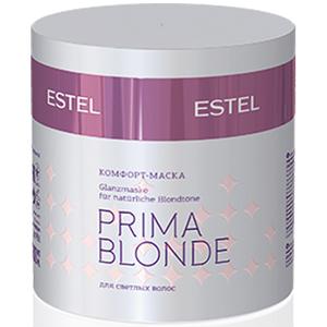 ESTEL PROFESSIONAL Маска-комфорт для светлых волос / Prima Blonde 300млМаски<br>Мгновенное питание, интенсивное увлажнение, а главное   защита от негативных внешних воздействий! Маска позволит волосам надолго оказаться в зоне комфорта. Комплекс Peаrl Comfort в составе продукта восстановит структуру волос, обеспечит блеск, мягкость и безупречный вид. Активные ингредиенты:&amp;nbsp;амино-функциональный силоксановый полимер   восстанавливает волосы. Натрий PCA   стабилизирует цвет, увлажняет волосы Способ применения: нанесите маску на чистые влажные волосы, оставьте на 5-10 минут, смойте. Использовать 1-2 раза в неделю.<br><br>Объем: 300 мл