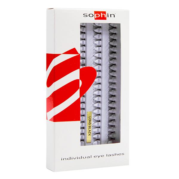 SOPHIN Пучки черные натуральные накладные, длинныеОсобые аксессуары<br>Пучки ресниц изготовлены из 100% натурального человеческого волоса. Просты в применении, естественно выглядят и придают взгляду глубину и выразительность. В комплект входит специальный клей 1 гр.<br>