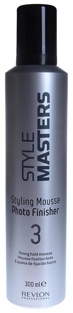 REVLON Мусс сильной фиксации / STYLE MASTERS 300млМуссы<br>Создавая новую сложную и креативную причёску, воспользуйтесь муссом сильной фиксации, разработанным специалистами из компании Revlon Professional. Это уникальное средство поможет Вам качественно зафиксировать волосы в необходимом положении, в течение длительного времени не позволяя причёске испортиться. STYLING MOUSSE PHOTO FINISHER легко наносится и легко смывается, а также не оставляет на волосах никаких следов стайлинга. Ваша причёска выглядит безупречно благодаря Revlon Professional! Способ применения: Выдавите небольшое количество мусса в ладони и распределите на влажных волосах, высушите волосы естественным образом или с помощью фена. Не оставляет следов стайлинга на волосах.<br>