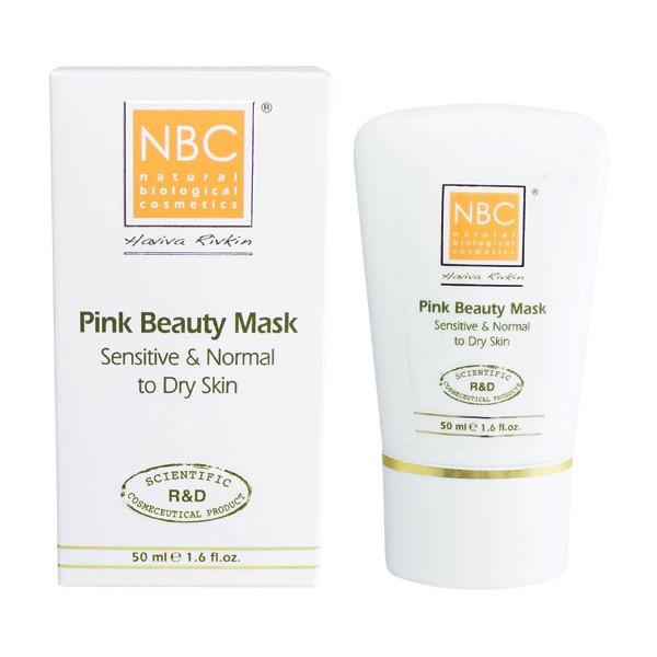 NBC Haviva Rivkin Маска красоты / Pink Beauty Moisturizing Mask 50млМаски<br>Увлажняет, питает, смягчает сухую и нормальную кожу, придавая ей моментально отдохнувший и здоровый вид. Нежная консистенция маски оказывает антиоксидантное и релаксирующее действие. Успокаивает раздраженную кожу.Активные ингредиенты: стеариновая кислота, масло какао, масло сладкого миндаля, экстракт ромашки, спермацет, розовая глина, триэтаноламин, ланолин, белая глина.Способ применения: на чистую кожу нанести маску на 15-20 минут. Тщательно смыть водой. Протереть тоником. Нанести соответствующий крем.<br>