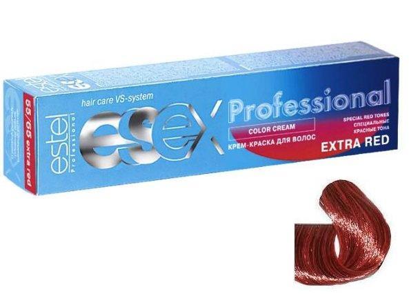 ESTEL PROFESSIONAL 66/54 краска д/волос / ESSEX Extra Red 60млКраски<br>Оттенок: Испанская коррида. Крем-краска ESSEX Extra Red придает волосам ультраинтенсивный, насыщенный цвет. Эксклюзивная формула, разработанная на основе Молекулы Red5, позволяет достичь на 25% более мощный яркий цвет, чем при окрашивании оттенками основной палитры. Благодаря небольшой молекулярной массе, Молекула Red5 глубоко проникает в корковый слой волоса, за счет чего увеличивается стойкость цвета. Сбалансированная формула, содержащая силоксаны, придает волосам шелковистый блеск. Активные ингредиенты: Силоксаны,  Молекула Red5.  Способ применения: Смешивается с оксигентами ESSEX 6%, 9% в соотношении 1:1. Время воздействия 40-45 минут.<br><br>Цвет: Красный и фиолетовый<br>Объем: 60