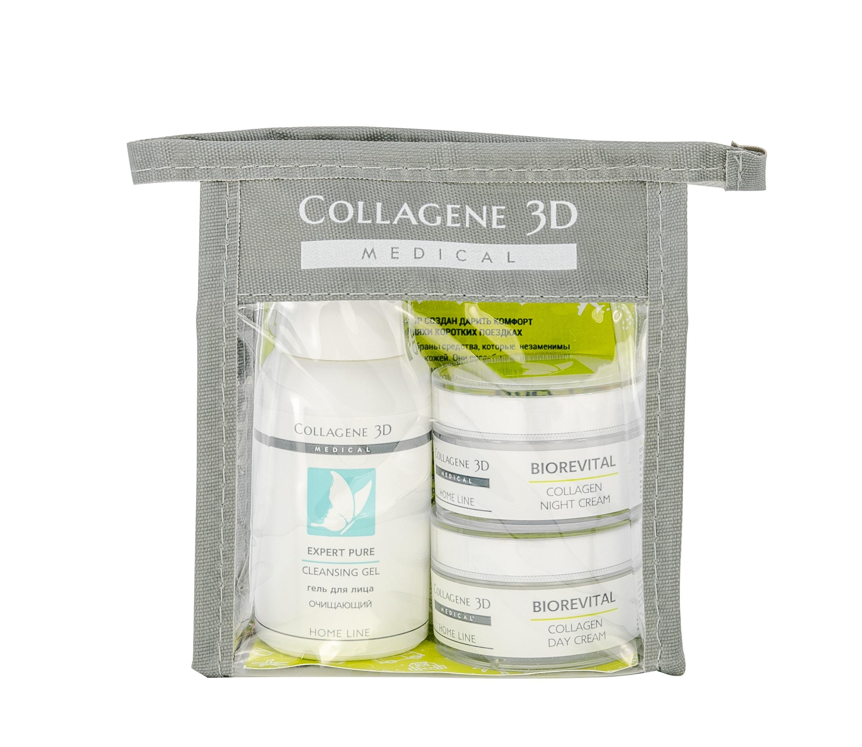 Купить MEDICAL COLLAGENE 3D Набор для лица (крем дневной 15 мл, крем ночной 15 мл, гель 15 мл) Travel Kit Biorevital Mini