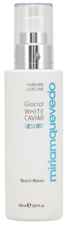 Купить MIRIAM QUEVEDO Спрей текстурирующий с маслом прозрачно-белой икры, для создания локонов / Glacial White Caviar Resort Beach Waves 150 мл