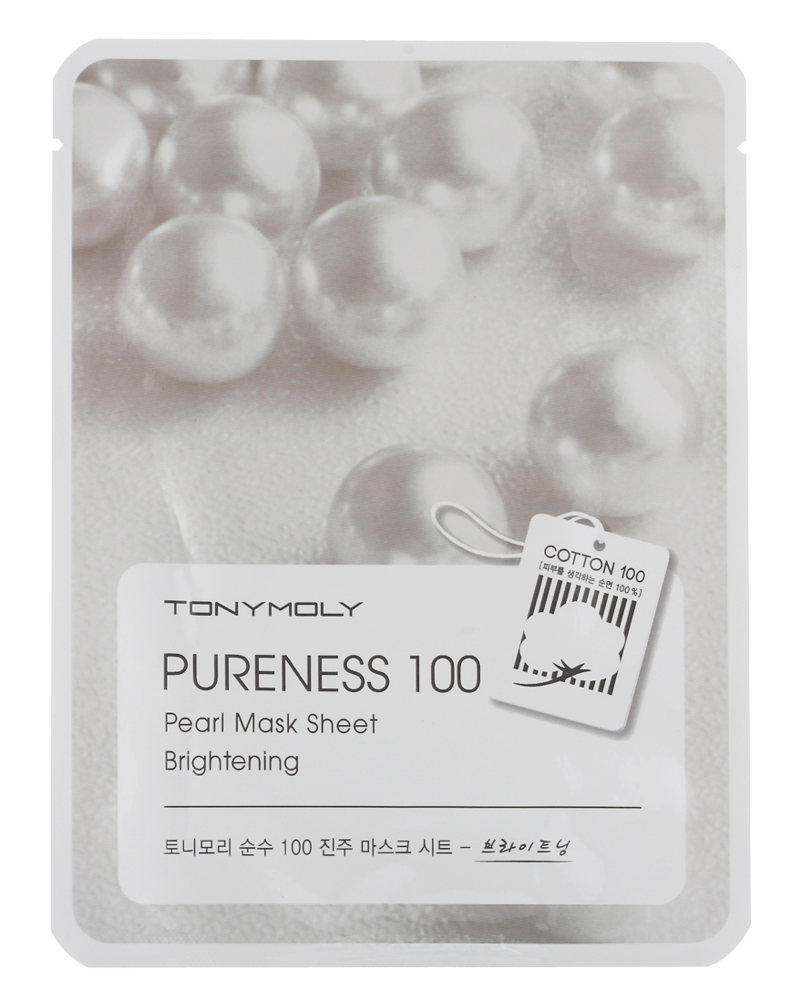 TONY MOLY Маска с экстрактом жемчуга для лица / Pureness 100 Pearl Mask Sheet 21 мл