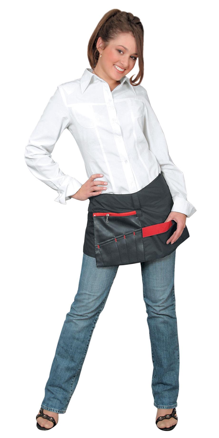 Купить DEWAL PROFESSIONAL Юбка-пояс для инструментов, нейлон, черная с красной вставкой 31х116 см