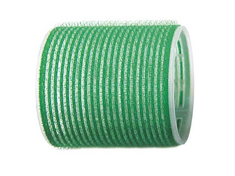 SIBEL Бигуди-лип.(10)S 61мм зелен. 6шт/уп SibelБигуди<br>Бигуди 61 мм зеленые с внешним слоем ворсистой ткани  липучка , 6 штук в упаковке. Бигуди на липучках дают возможность очень быстро нанести их на волосы благодаря наличию на них мелких ворсинок  липучек , они не закрепляются на волосах специальными приспособлениями, поэтому позволяют довести локон до самых корней волос не оставляя следов от зажимов и резинок.<br>
