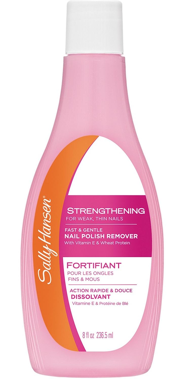 SALLY HANSEN Жидкость укрепляющая для снятия лака, для слабых тонких ногтей / strengthening for weak, thin nails -  Снятие лака