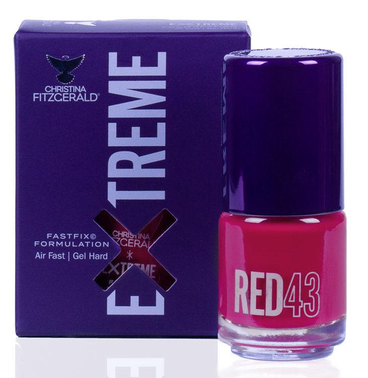 Купить CHRISTINA FITZGERALD Лак для ногтей 43 / RED EXTREME 15 мл, Красные