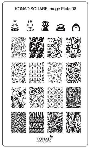 KONAD Пластина прямоугольная / Square Image Plate08 30гр