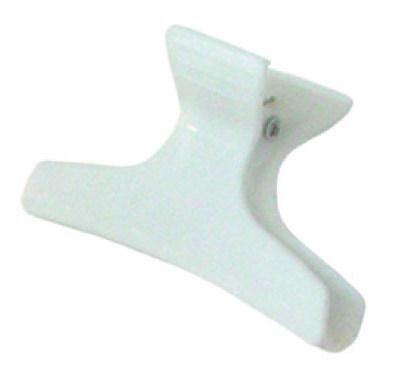 SIBEL Зажим пластмассовый широкий белый 12 шт/уп.