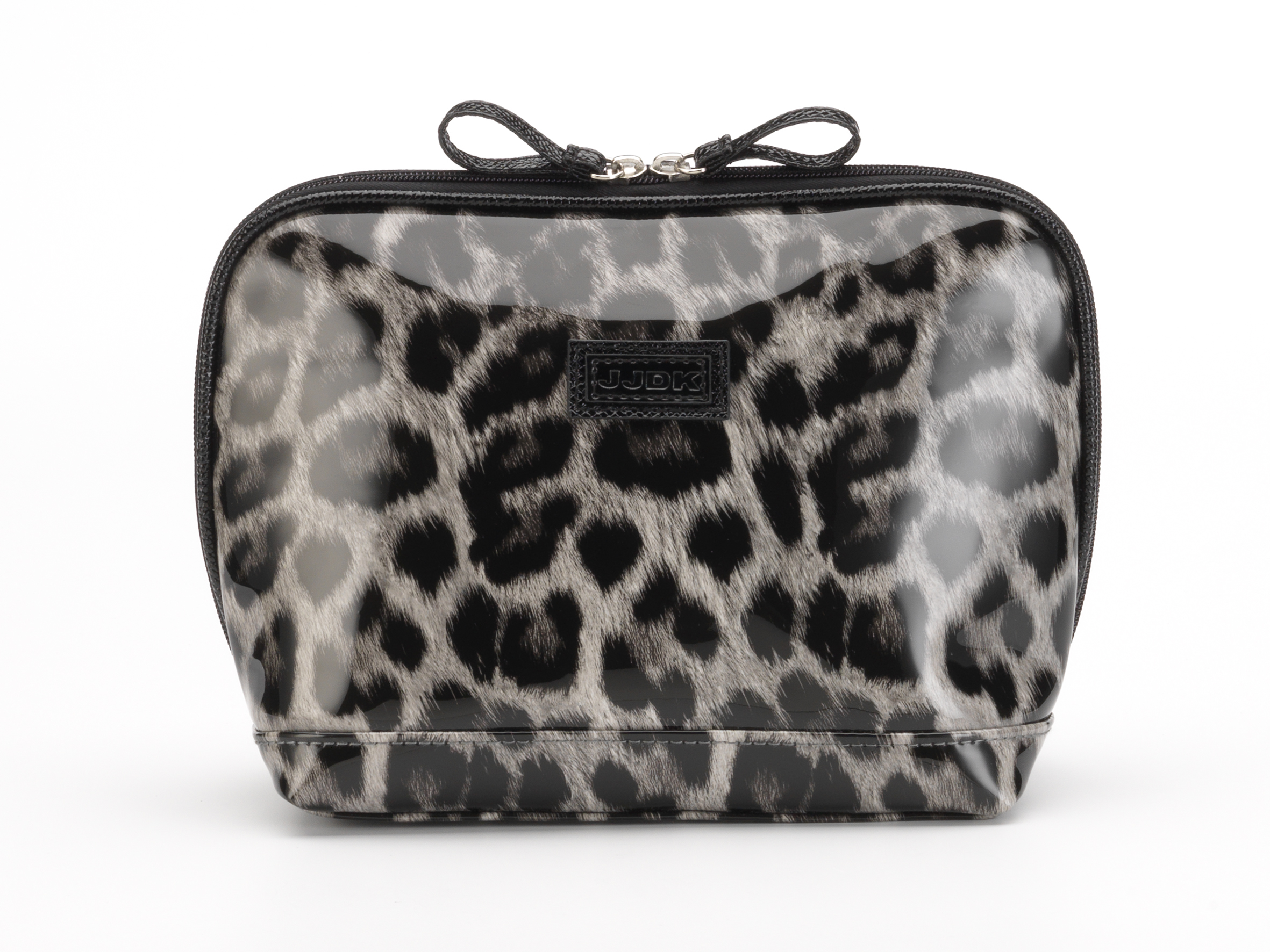 Купить JJDK Косметичка Oda leopard grey большая запечатанный хлопок, леопард серый