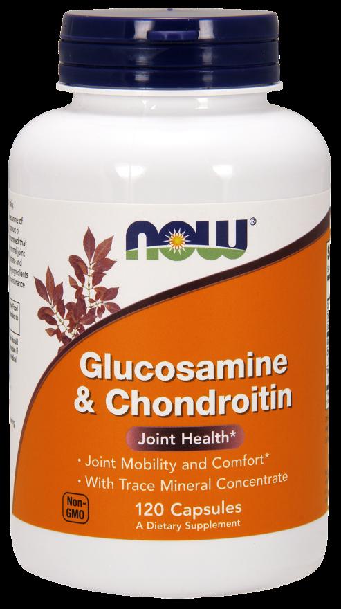 Купить NOW FOODS Глюкозамин с хондроитином, капсулы 1200 мг № 120
