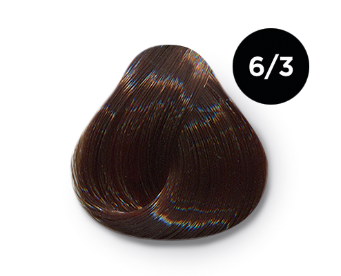 OLLIN PROFESSIONAL 6/3 краска для волос, темно-русый золотистый / OLLIN COLOR 60 мл