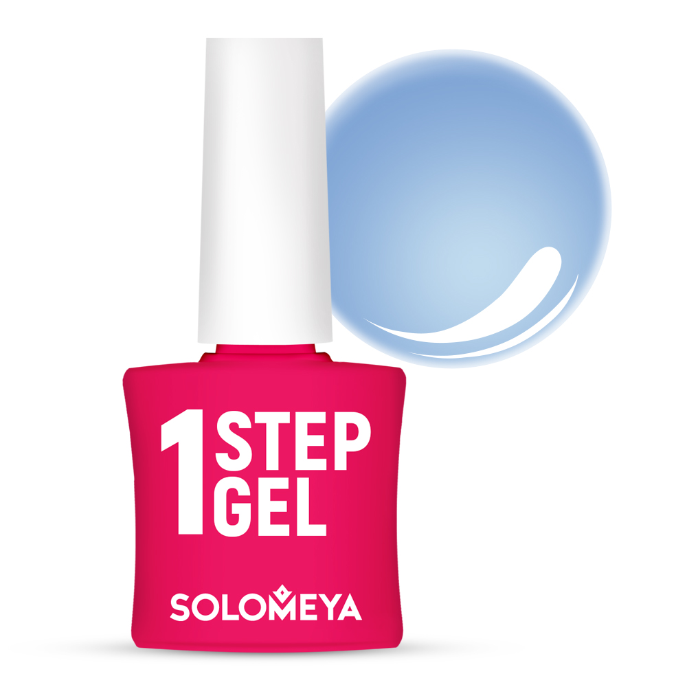 SOLOMEYA Гель-лак однофазный для ногтей, 28 туман / One Step Gel Mist 5 мл