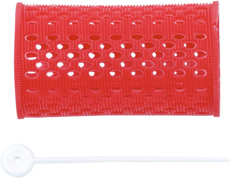 DEWAL PROFESSIONAL Бигуди пластиковые красные d 38 мм 12 шт/уп