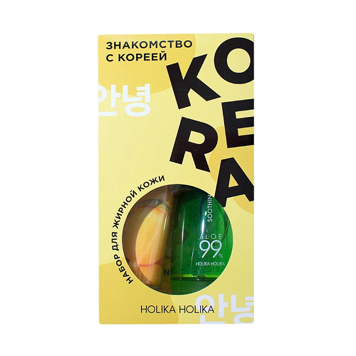Купить HOLIKA HOLIKA Набор для ухода за жирной кожей лица Знакомство с Кореей (гель 250 мл, пенка 120 мл, тканевая маска 20 мл) Holika Holika