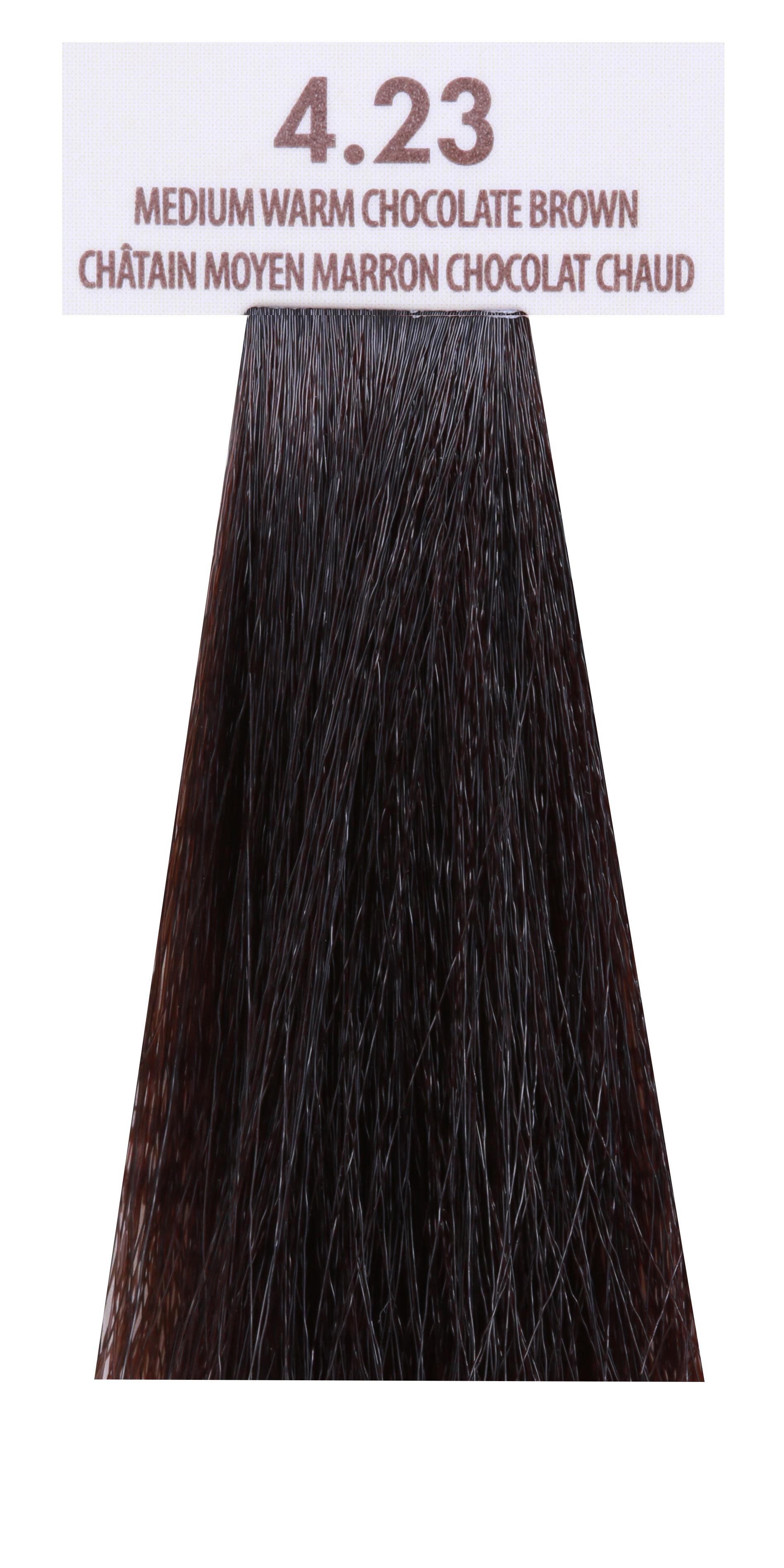 MACADAMIA NATURAL OIL 4.23 краска для волос, средний теплый шоколадный каштановый / MACADAMIA COLORS 100 мл фото