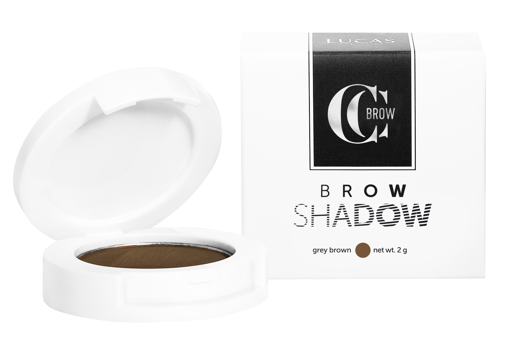 Купить LUCAS' COSMETICS Тени для бровей / CC Brow Shadow grey brown