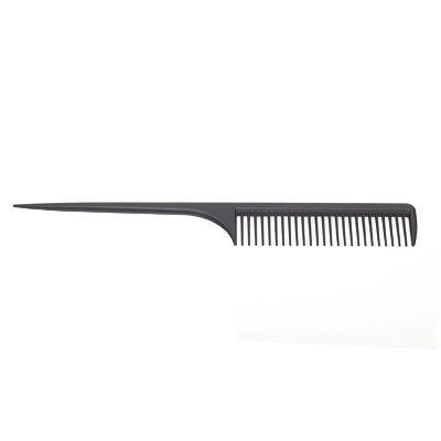ERIKA Расческа с остроконечной ручкой, с редкими зубчиками, карбон 25см