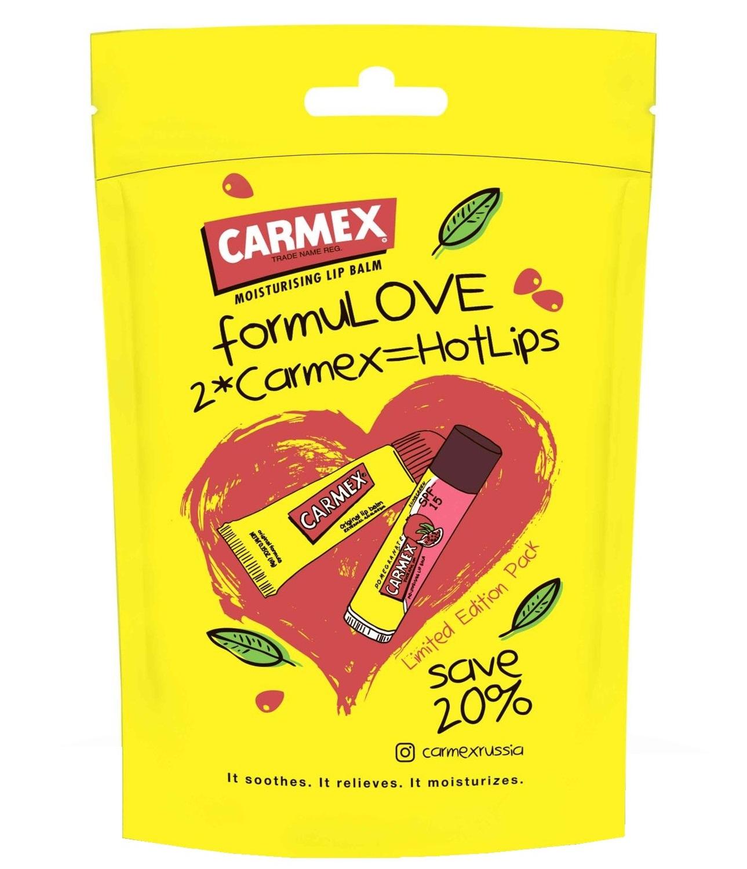 Купить CARMEX Набор бальзамов для губ (классический в тубе 10 г + гранатовый в стике 4, 25 г) Carmex