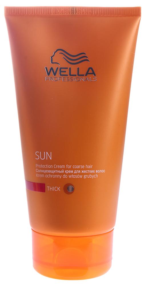 WELLA Крем солнцезащитный для жестких волос / WP SUN 200млКремы<br>Солнцезащитный крем для жестких волос Wp Sun предназначен для защиты сухих и жестких волос от ультрафиолетовых лучей. Питает и увлажняет волосы с помощью витаминного комплекса. Волосы приобретают сияющий здоровый вид, становятся мягче. Результат: Защита волос от ультрафиолетовых лучей. Питание и увлажнение сухих волос. Активные ингредиенты: Витаминный комплекс. Способ применения: Наносить до или во время пребывания на солнце. Распределить на сухие или влажные волосы. Не смывать.<br><br>Вид средства для волос: Солнцезащитный<br>Типы волос: Сухие