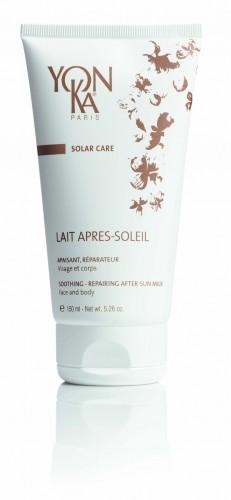 YON KA Молочко после загара Lait Apres soleil / SOLAR CARE 150млМолочко<br>Это восстанавливающее и смягчающее молочко после загара для лица и тела &amp;ndash; прекрасная забота для Вашей кожи. Успокаивает обгоревшую на солнце кожу и дарит прекрасное ощущение свежести. Быстро впитывается, уменьшает ощущение жара. Увлажняет верхние слои кожи. Придаёт коже нежный аромат. Активные ингредиенты: экстракты огурца, липы, василька, ромашки, зверобоя, витамины А и В5, эфирные масла герани, лаванды, розмарина, кипариса, тимьяни. Способ применения: применяйте после пребывания на солнце.<br><br>Вид средства для тела: Восстанавливающее