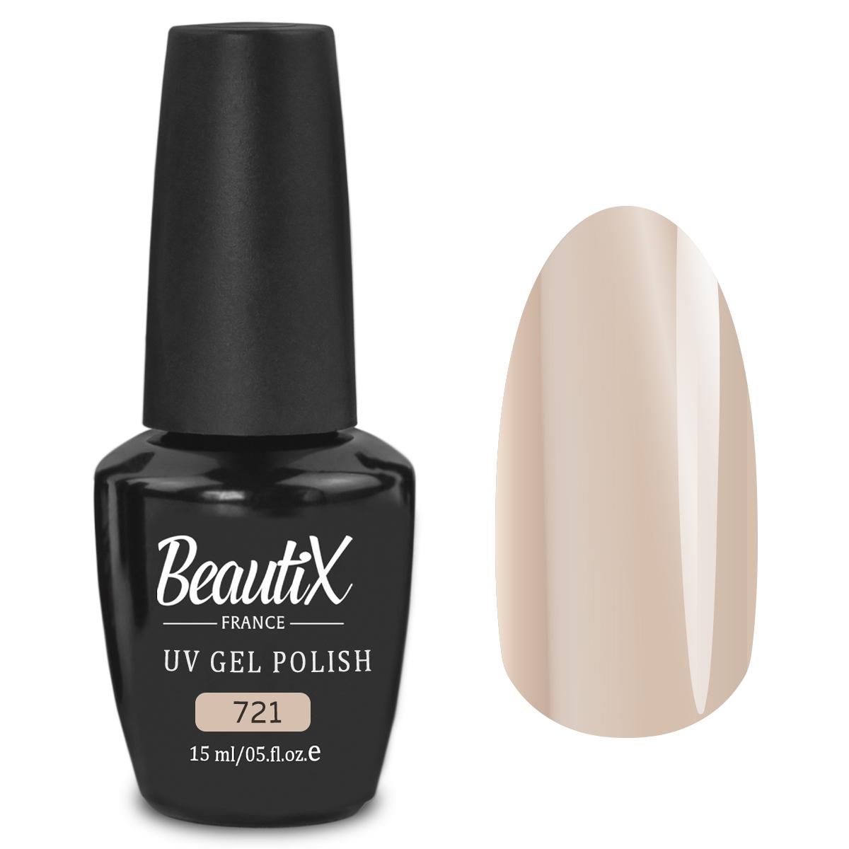 Купить BEAUTIX 721 гель-лак для ногтей 15 мл, Коричневые