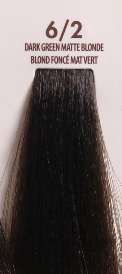 MACADAMIA Natural Oil 6/2 краска для волос / MACADAMIA COLORS 100млКраски<br>6/2 темный зелено матовый блондинПрофессиональный кремообразный краситель на основе масла макадамии сохраняет волосы здоровыми, живыми, мягкими и блестящими. Уникальная и хорошо продуманная формула красителя обеспечивает четкие, предсказуемые, последовательные и стойкие результаты. Основа красителя - масла макадамии и арганы, которые проникают в структуру волос для сохранения целостности структуры, восстановления и укрепления. Комбинация всех ингредиентов красителя создает яркие, роскошные оттенки с потрясающей стойкостью. Все цвета можно смешивать между собой, создавая бесконечное множество оттенков. С этим красителем каждый стилист может выйти за рамки повседневности, позволяя своему воображению воплощать в жизнь любые творческие идеи. Преимущества: Прост в применении Удобен в работе как для начинающего мастера, так и для опытного стилистаУникальная и хорошо продуманная формула красителя обеспечивает чёткие и предсказуемые результаты окрашиванияЭкономичен в работе Пропорция смешивания красителя с окислителем от 1 к 1.5 до 2.5 позволяют сократить расход красителя на каждого клиентаУвеличенная стойкость цвета Благодаря уменьшенному размеру, пигменты и масла способны более глубоко проникать в кортекс волоса и удерживаться там на более длительный срокВходящие в состав масла, служат проводником пигментов в кортекс волосаМногообразие оттенков Богатая палитра из 92 оттенковМножество модных и актуальных оттенков, таких как нейтрально-коричневый, бежевый, шоколадно-коричневые и т.д. Создание цвета и СПА уход в одном флаконе Результат окрашивания   стойкие, красивые и насыщенные оттенки. Уникальная комбинация пигментов и масел дополнительно увлажняет волосы и позволяет минимизировать вред, наносимый окрашиванием. Активные ингредиенты: масло макадамии, масло арганы.<br>