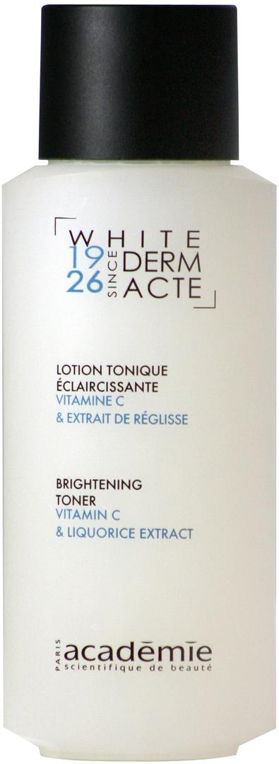 ACADEMIE Тоник осветляющий / WHITE DERM ACTE 250млТоники<br>Тоник для всех типов кожи, осложненных пигментацией. Восстанавливает баланс кожи и завершает этап очищения. Выравнивает оттенок кожи. Рекомендуется использовать в комплексном осветляющем уходе для достижения максимального результата. Результат: Чистая, увлажненная, сияющая кожа. Проявления пигментации уменьшены, тон выровнен. Активные ингредиенты: витамин С 0.25%; экстракт лакрицы 0.10%. Способ применения:&amp;nbsp;немного тоника нанести на ватный диск и протереть кожу лица. Использовать каждый раз после очищения кожи и снятия масок.<br><br>Вид средства для лица: Отбеливающий