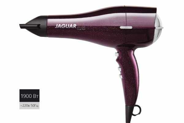 JAGUAR Фен Jaguar 3900 1900W пурпурн.86281Фены<br>Профессиональный фен Jaguar HD 3900. Фен имеет: 2 режима скорости 4 режима нагрева. Кнопка охлаждения воздуха. Длина шнура - 2,8 м. В комплекте 2 насадки. Мощность 1900 W.<br>